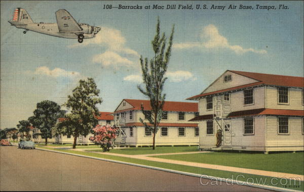 Barracks at Mac Dill Field, U.S. Army Air Base Tampa Florida