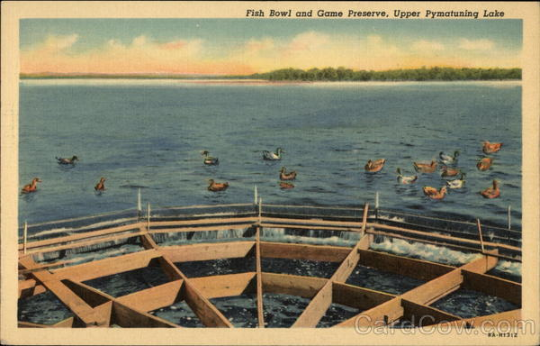 Fish bowl and game preserve upper pymatuning lake pa for Pa fish and game