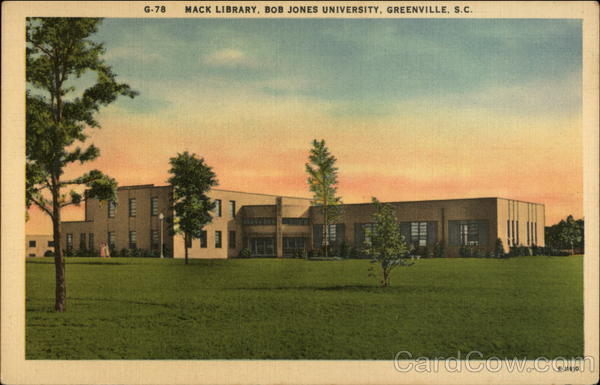 Mack Library, Bob Jones University Greenville South Carolina