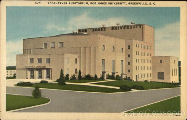 Rodeheaver Auditorium, Bob Jones University Greenville South Carolina