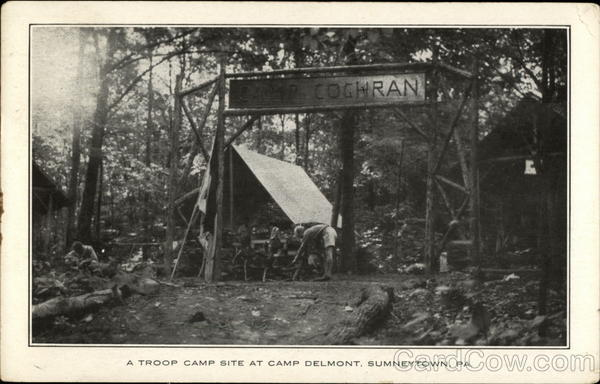 A Troop Camp Site at Camp Delmont Sumneytown Pennsylvania