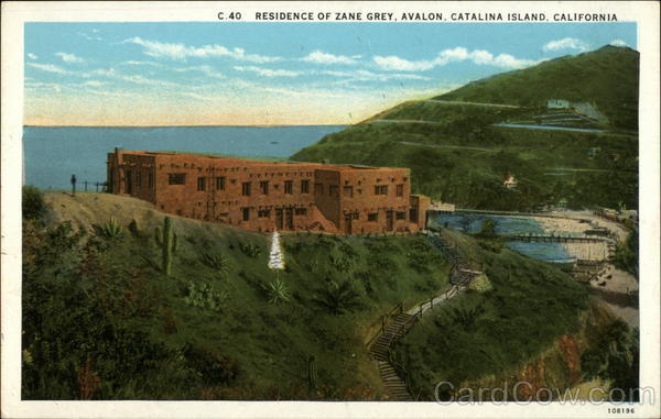 Residence of Zane Grey Catalina Islanda California