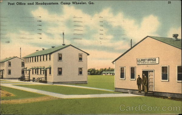 Post Office and Headquarters Camp Wheeler Georgia