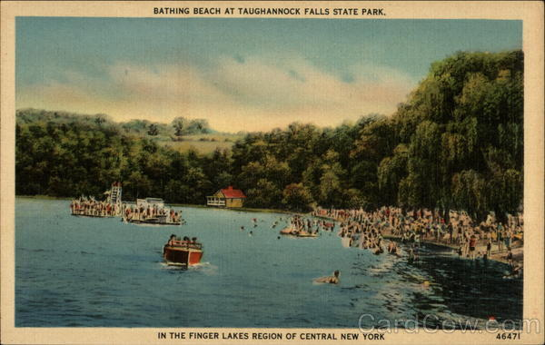 Bathing beach at Taughannock Falls State Park Ulysses New York