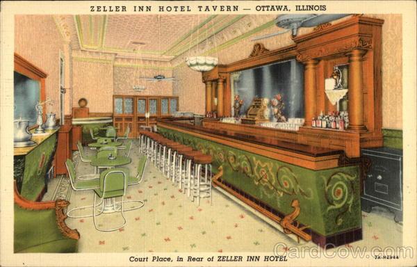 Court Place Zeller Inn Hotel Tavern Ottawa Illinois
