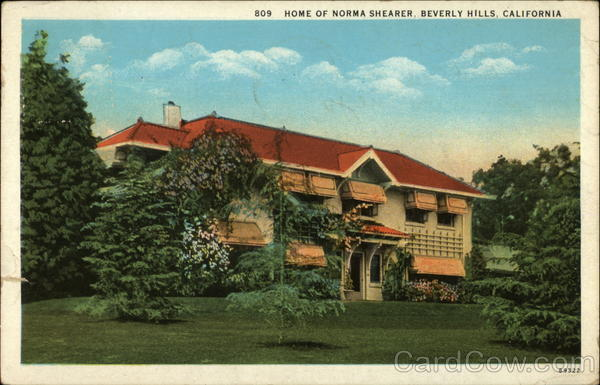 Home of Norma Shearer Beverly Hills California