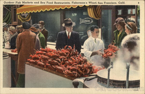 Outdoor fish markets and sea food restaurants fisherman 39 s for Fish market san francisco