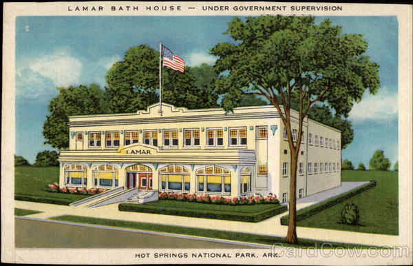 Lamar Bath House - under government supervision Hot Springs National Park Arkansas