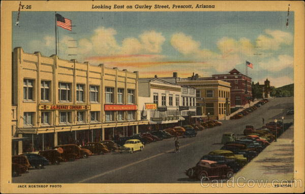 Looking East on Gurley Street Prescott Arizona