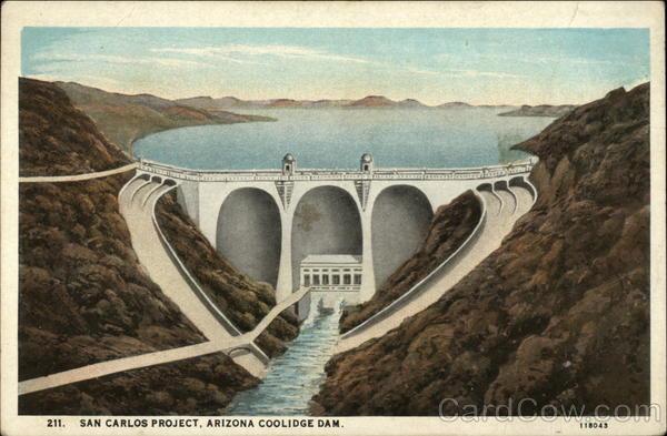 Can Carlos Project Arizona Coolidge Dam Gila River Az