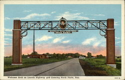 Welcome Arch on Lincoln Highway #30