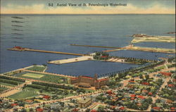 Aerial View of Waterfront Postcard