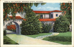 Home of Joan Crawford Postcard