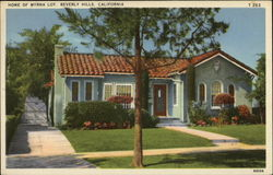 Home of Myrna Loy Postcard