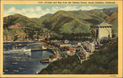 Avalon and Bay from the Chimes Tower Postcard