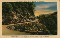 Roadway Scene, in the Heart of the Mountains