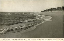 Where the lake laps the shore, Y.W.C.A. Forest Beach Camp