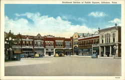 Southeast Section of Public Square Postcard