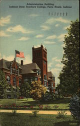 Administration Building, Indiana State Teachers College Postcard