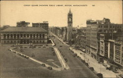 Copley Square Showing Public Library