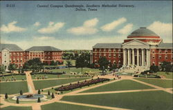 Central Campus Quadrangle, Southern Methodist University Postcard