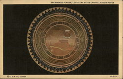 The bronze plaque, Louisiana State Capitol