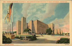 Industries, Electrical and Communcations Building at Texas Centennial Exposition Postcard