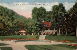 Pavilion at Sinnissippi Park Postcard