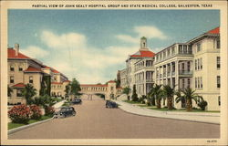 Partial view of John Sealy Hospital Group and State Medical College