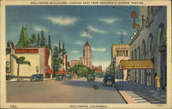 Hollywood Boulevard, looking East from Grauman's Chinese Theatre Postcard
