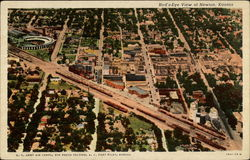 Bird's-Eye View of Newton, Kansas