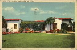 Home of Pat O'Brien Postcard
