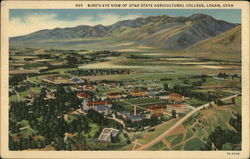 Bird's Eye-view of Utah State Agricultural College