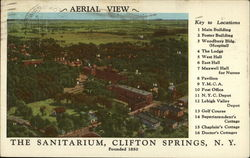Aerial view of the Sanitarium