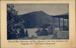 View of Blue Mountain and Blue Mountain Lake from Faulkner's Inn