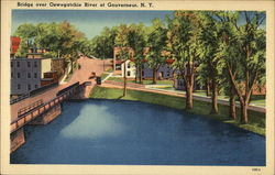Bridge over Oswegatchie River Postcard