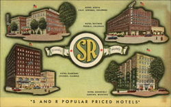 Friendly S and R Popular Priced Hotels Postcard