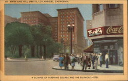 Glimpse of Pershing Square and the Biltmore Hotel