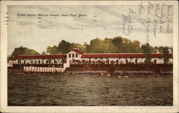 Public Baths, Harriet Island St. Paul Minnesota