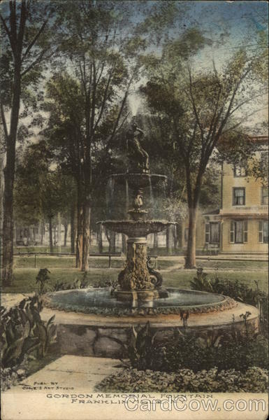 Gordon Memorial Fountain Franklinville New York