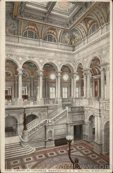 Library of Congress, Central Stair Hall Washington District of Columbia