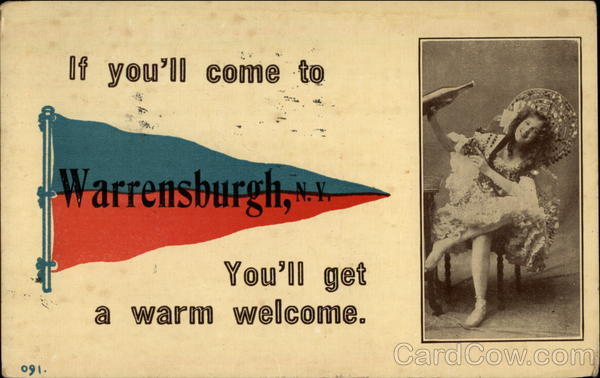If you'll come, you'll get a warm welcome Warrensburg New York
