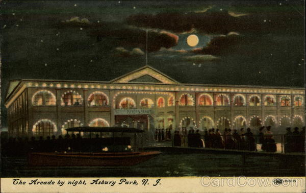 The Arcade by Night Asbury Park New Jersey