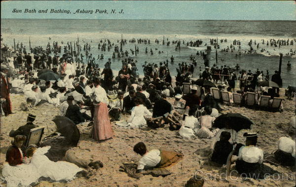 Sun Bath and Bathing Asbury Park New Jersey