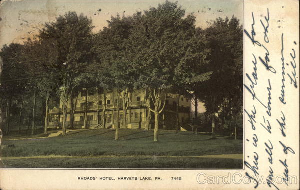 Rhoads' Hotel Harveys Lake Pennsylvania