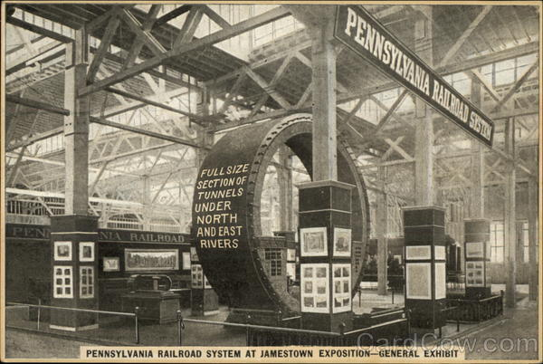 Pennsylvania Railroad System at Jamestown Exposition - General Exhibit Virginia