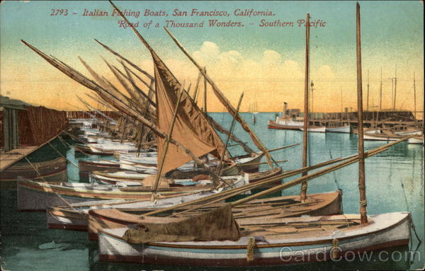 Italian Fishing Boats San Francisco California
