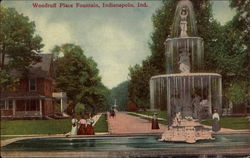 Woodruff Place Fountain Postcard