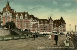 Chateau Frontenac and Dufferin Terrace Postcard