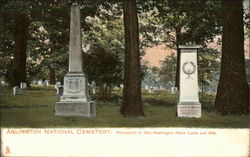 Monuments to Geo. Washington Parke Curtis and Wife